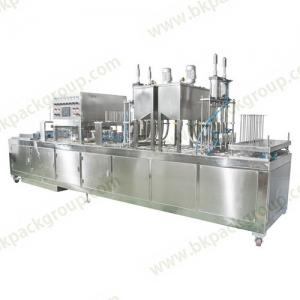 BK60A-6 Full automatic yogurt Cups filling and sealing machine