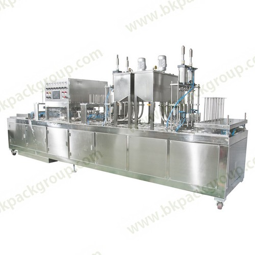 Bk60a 6 Full Automatic Yogurt Cups Filling And Sealing