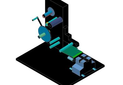 BKSL-650W Semi auto Wire vertical table type labeling machine
