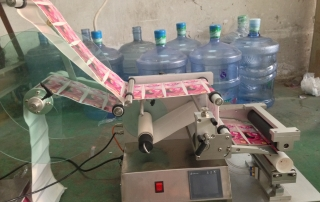 BKSL-110R Table Top Semi auto Round tube labeling machine with PLC