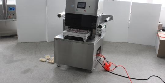 BKAS-450B Automatic Tray Vacuum Gas-flushing Packaging Machine