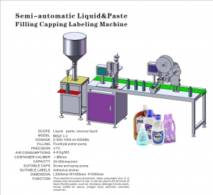 bksf-c-l-manual-liquid-filling-capping-labeling-machine