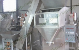 Semi auto grains filling machine with elevator,Seeds weight filling machine with elevator