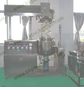 BKTE-130L vacuum emulsifying tank with homogenizer