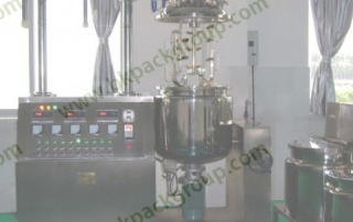 BKTE-130L vacuum emulsifying tank with homogenizer
