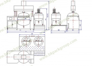 high viscosity mixing tank with vacuum system