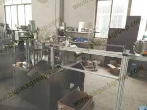 Standup pouch filling and capping machine1