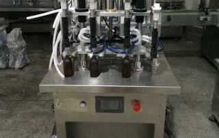 BKSLF-4V Semi Automatic 4-heads Vacuum Perfume Filler,Vacuum Perfume Liquid Filling Machine,Vacuum red wine filler