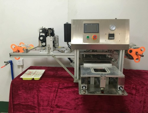 2017 fashion tabletop new model semi auto tray/cup sealing machine
