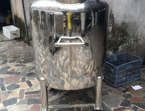 100L full sealed vacuum storage tank with heaters and temperature heat
