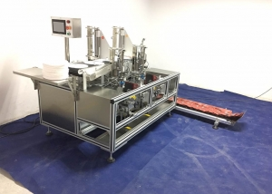 BKGF-M2F Full automatic two heads facail mask folding packaging machine