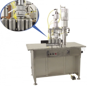 Semi auto aerosol filling machine 3 in 1