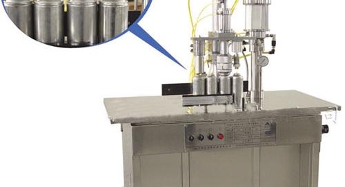 Semi auto aerosol filling machine 3 in 1