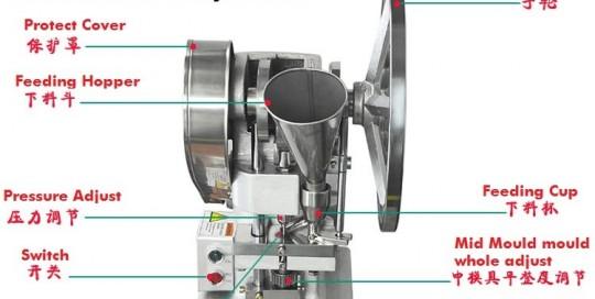 1.5L T single punch tablet machine-aluminium alloy