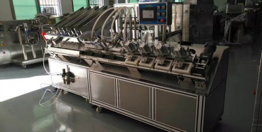 BKGF-M4Y Full automatic 4heads mask filling and sealing machine horizotal type1