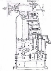 BKAV-4B2 Automatic Tin can Vacuuming Seaming Machine structure drawing