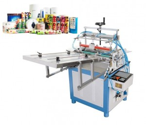 Carboard tubes labeling machine