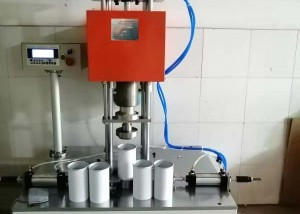 Chips paper tube edge rolling machine semi auto