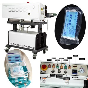 fully auto continuous mask bag vacuum sealing machine with nitrogen gas flashing