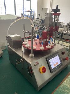 Tabletop type fully automatic vials filling and capping machine