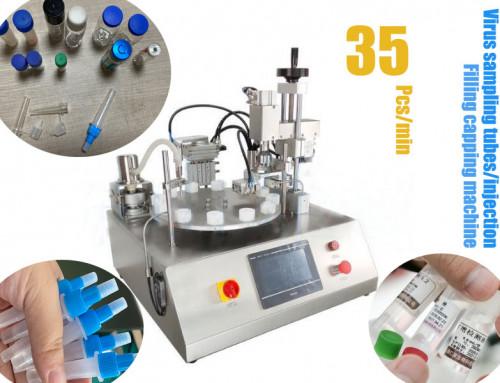 Virus sampling tube packaging machine